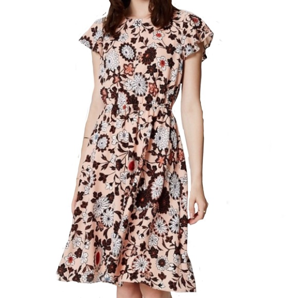43d1cf7c LOFT Dresses | Floral Flutter Dress | Poshmark